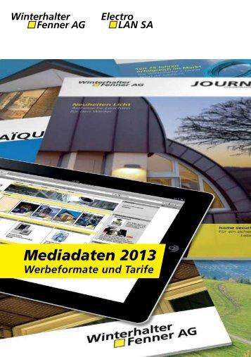 Mediadaten 2013 - Winterhalter + Fenner AG