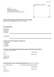 Antrag auf Genehmigung als Züchter, Lieferant oder Verwender (1 ...