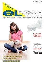 Ausgabe 13 10 - elforum