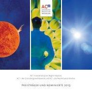 preisträger und nominierte 2013 - GründerRegion Aachen
