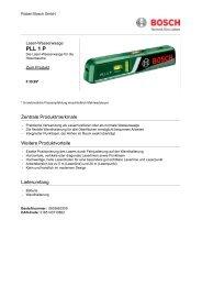 PLL 1 P - Bosch