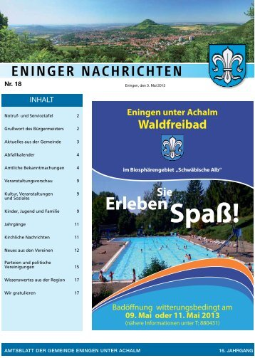3. Mai 2013 - Gemeinde Eningen unter Achalm