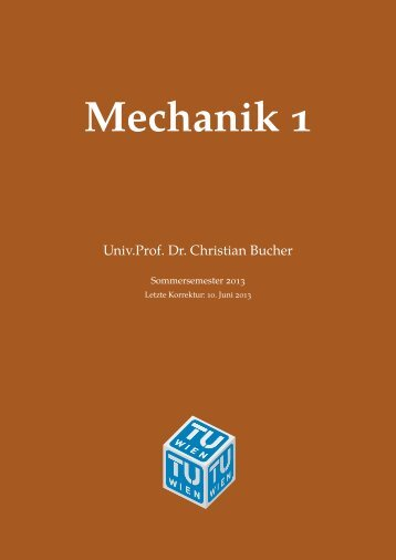 Mechanik 1 - TU Wien