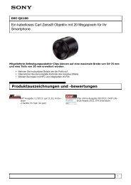 Produktinformation : DSC-QX100