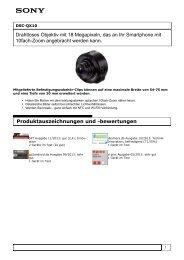 Produktinformation : DSC-QX10