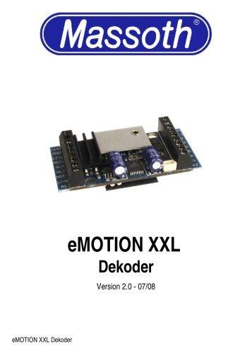 eMOTION XXL Dekoder - Ab-treinen