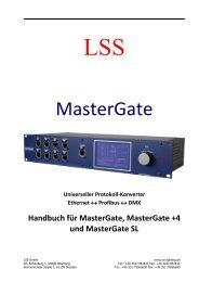 MasterGate - LSS Licht-, Steuer- und Schaltanlagenbau GmbH