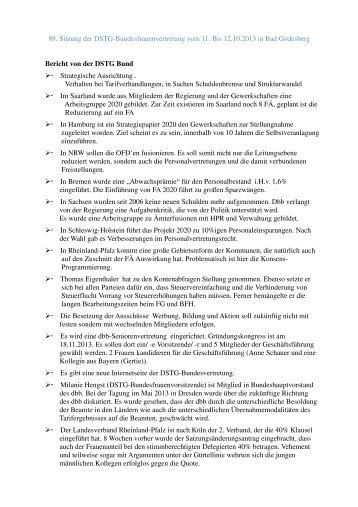 89 Sitzung der DSTG Frauenvertretung Bund.pdf - DSTG-Berlin