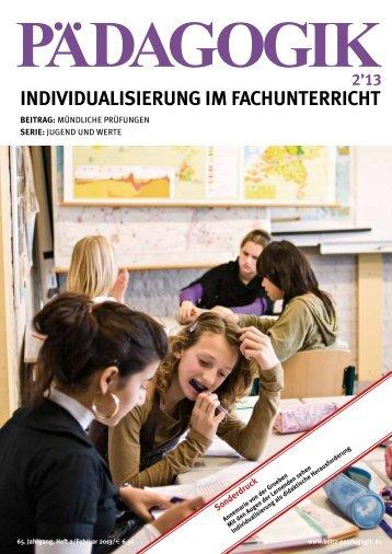 Individualisierung im Fachunterricht