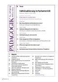 Individualisierung im Fachunterricht - Seite 2