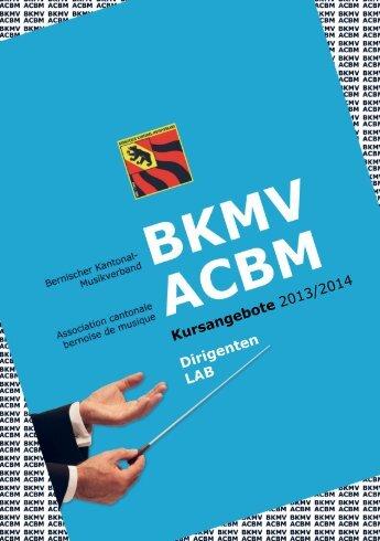 Broschüre Kursangebote 2013/2014 - Bernischer Kantonal ...