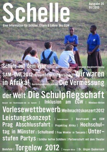 Schelle Nr. 20 vom Januar 2013 - Ev. Gymnasium Werther
