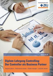 Diplom-Lehrgang Controlling - ZfU International Business School