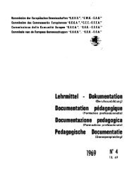 Lehrmittel - Dokumentation Documentation pédagogique ...