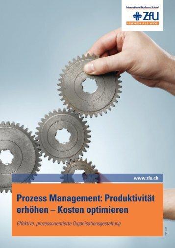 Prozess Management: Produktivität erhöhen – Kosten optimieren