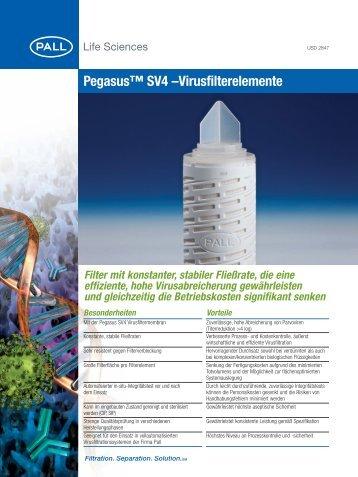 Pegasus™ SV4 –Virusfilterelemente - Pall Corporation