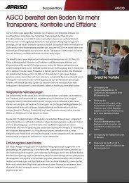 Volvo CE - Kundenbericht - Apriso