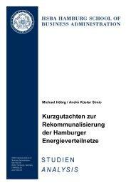 Gutachten Rekommunalisierung der Hamburger Energieverteilnetze