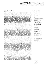 global aCtIVISm - Zentrum für Kunst und Medientechnologie Karlsruhe