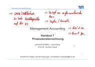 Management Accounting - Lehrstuhl für Controlling - TUM
