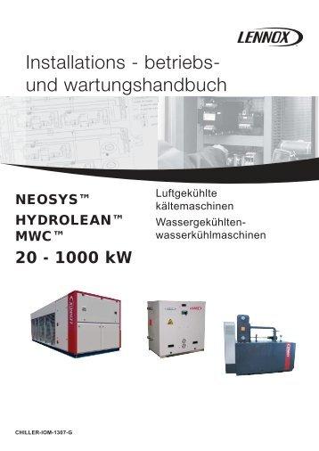 Installations - betriebs- und wartungshandbuch - Lennox