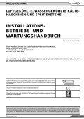 Installations - betriebs- und wartungshandbuch - Lennox - Page 3