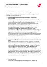 Beschluss auf Basis des Antrags 3.45 - GEW