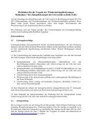 Richtlinien Wiedereinstieg Doktorandinnen - Verwaltung