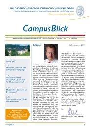 CampusBlick - Philosophisch-Theologische Hochschule Vallendar