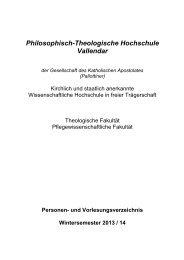 Vorlesungsverzeichnis - Philosophisch-Theologische Hochschule ...