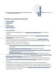 Newsletter Versorgungsforschung April 2013 - Albert-Ludwigs ...