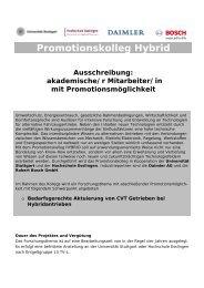 Promotionskolleg Hybrid - FKFS