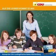aUF DIE LEHRER Kommt Es an! - CDU-Fraktion