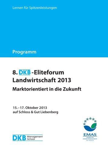Programmheft des DKB-Eliteforums Landwirtschaft