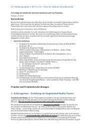 Projektbeschreibungen und Referatsthemen WS 13-14 finden Sie hier