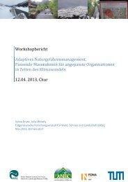 Zum Workshopbericht - WSL