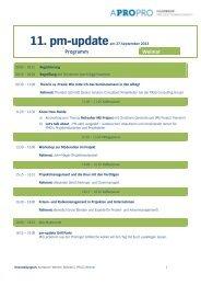 11. pm-updateam 27.September 2013 Programm Weimar - Apropro