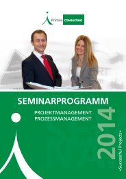 Seminarprogramm 2014 (PDF) - Primas CONSULTING GmbH