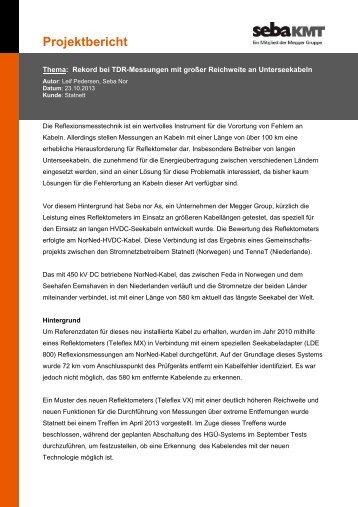 Projektbericht - SebaKMT