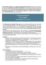 September 2013 ProjektmanagerIn EU-Projekte - Verwaltung