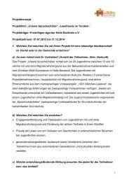 "1 Projektkonzept Projekttitel: ""Unsere Sprachschätze"" - Lesefreude ..."