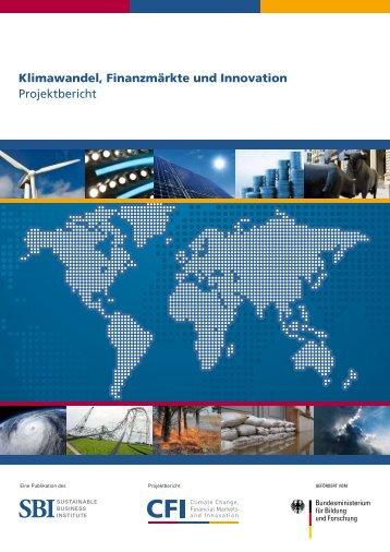 Klimawandel, Finanzmärkte und Innovation Projektbericht