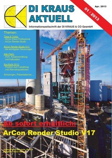 DI KRAUS AKTUELL Ausgabe 2013 / 1 - ArCon Visuelle Architektur