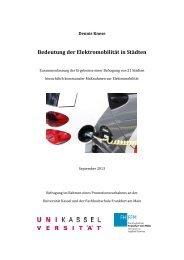 Bedeutung der Elektromobilität in Städten - Deutscher Städte- und ...