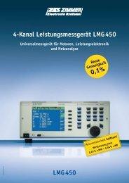 Datenblatt LMG 450 - SIBO Electronic Vertriebs GmbH