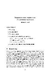 Mathematische Aspekte der Programmiersprachen Elfriede Fehr ...