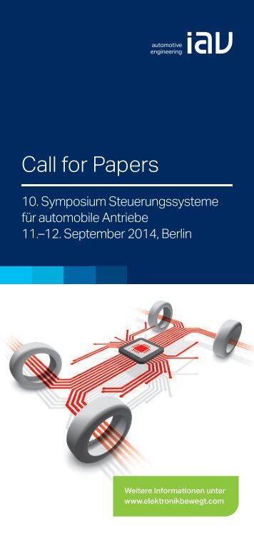 Call for Papers - IAV