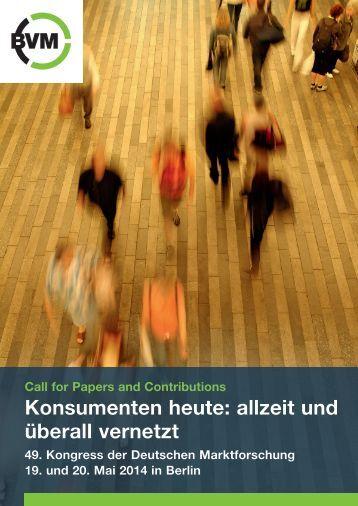 Call for Papers - Berufsverband Deutscher Markt
