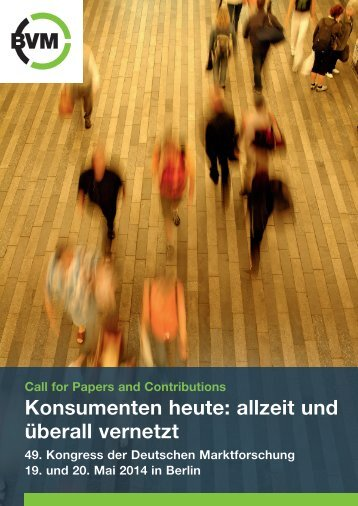 Call for Papers - Berufsverband Deutscher Markt