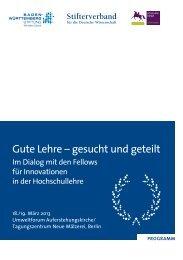 Gute Lehre – gesucht und geteilt - Stifterverband für die Deutsche ...